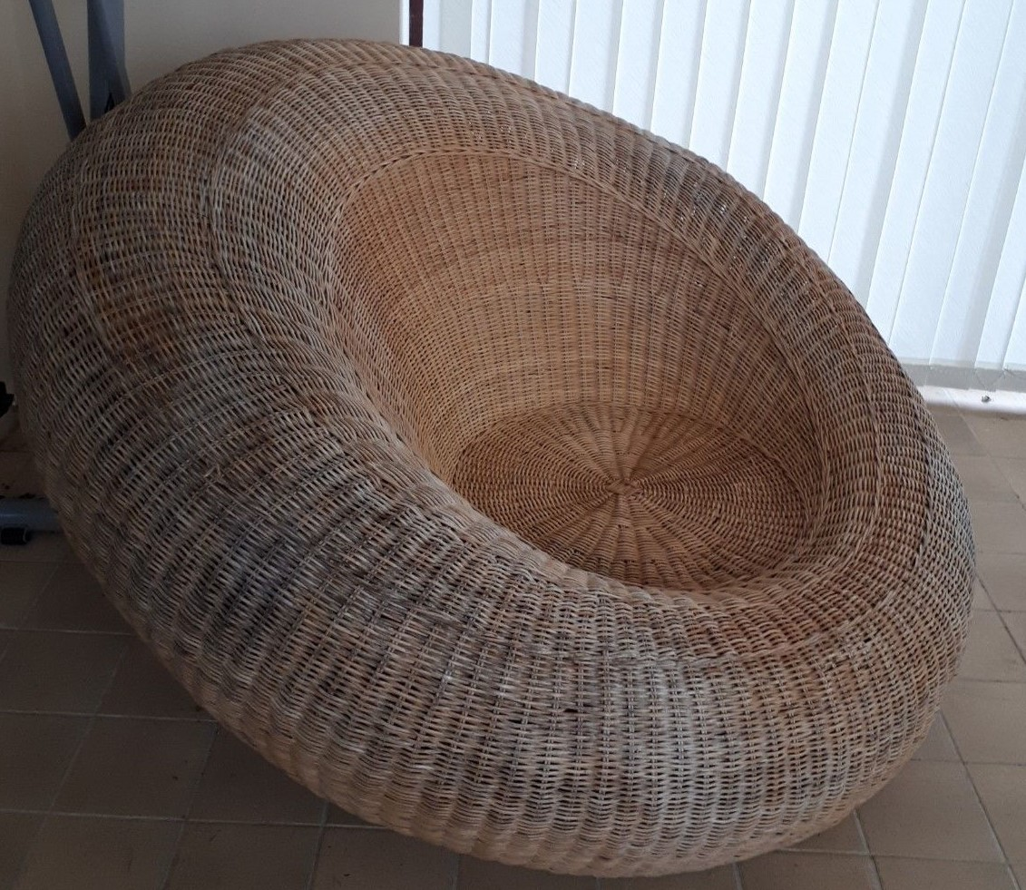 Vintage Wicker Rattan Ball Chair And Sofa Isamu Kenmochi Style