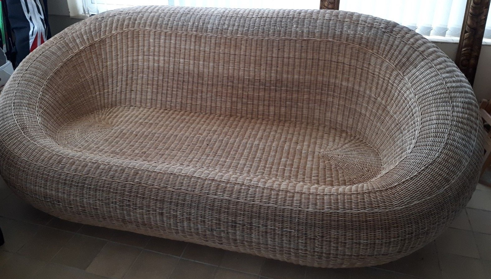 Gentil Vintage Wicker Rattan Ball Chair And Sofa Isamu Kenmochi Style